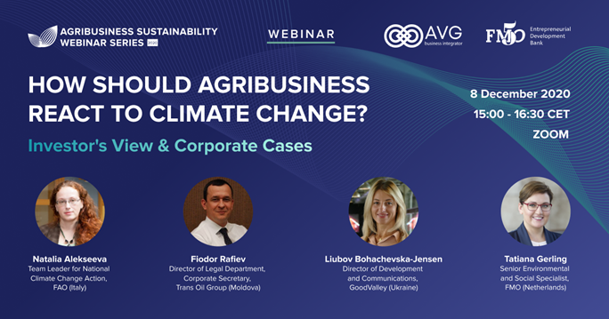 Вебинар о влиянии изменения климата на агробизнес 8 декабря 2020
